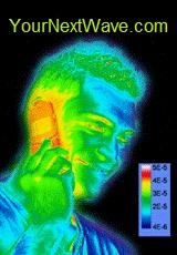 EMR Defender -Thermal Image 5 min into cell call with EMR Defender