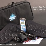 Lumen Dual Pad 528 Photon Therapy Device  (Note: Picture is Lumen Dual Pad 528 Photon Therapy Device.  Dual Pad 528 Bundle has additional single controller, power supply, and padded carrying case which are not shown in this picture.)